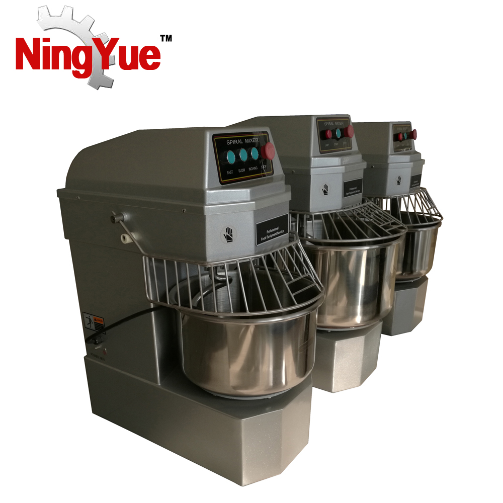Factory supply National food hygiene standard horizontal spiral dough mixer price