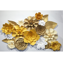 Handmade Giant Paper Flowers Wall Wedding Decoration