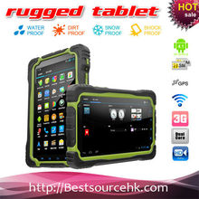 Shockproof rugged tablet PC Quad core android 4.2 MTK6589 phone call 7inch IPS screen 1024*600 rugged MID with compass GPS