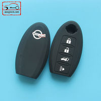 Okeytech silicone key cover nissan 4 buttons silicone key cover for nissan silicone car key cover