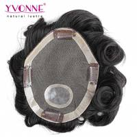 6 Inches body wave human hair men toupee