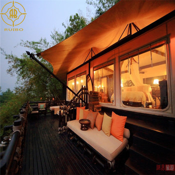 Sumptuous Waterproof  Fabric Tension Suspension Tent Hotel