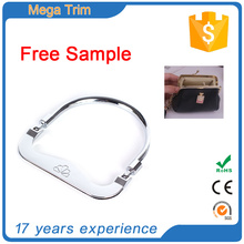 fashion round engraved metal short handbag handle covers for bag