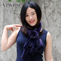 CX-S-130B Promotional Ladies Natural Mink Fur Woven Scarf