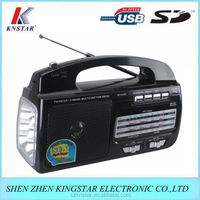AM FM receiver radio powerful rechargeable and emergency LED light