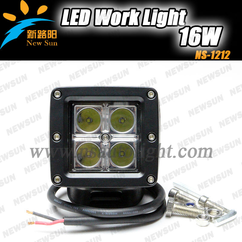 China factory wholesale LED Work Light Spot Driving Lamp Mining 4WD ATV SUV Offroad Jeep/c ree offroad led work light 16W C ree