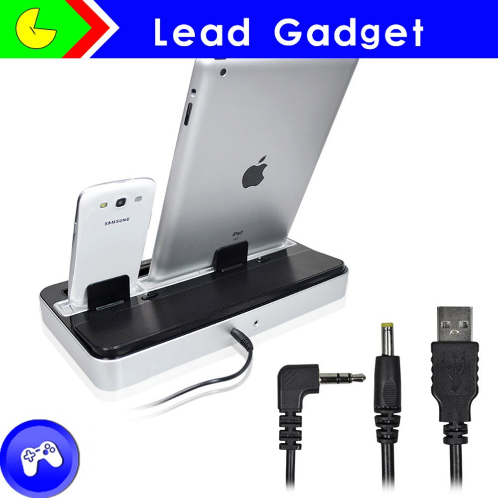 Wholesale smartphone charging station/docking station with speaker for iphone 5
