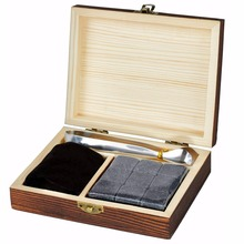 Bar Accessories Type And Eco-Friendly Feature Whisky Stone,Wine Chilly Whiskey Stones Set In Pine Wood Gift Case