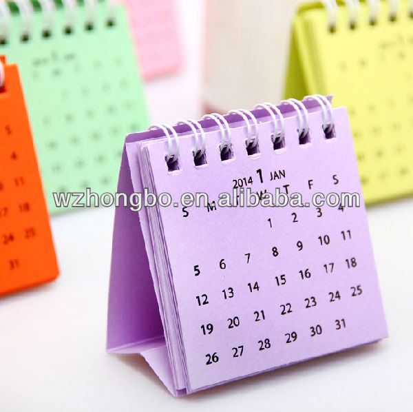 pocket calendar/small calendar/daily calendar