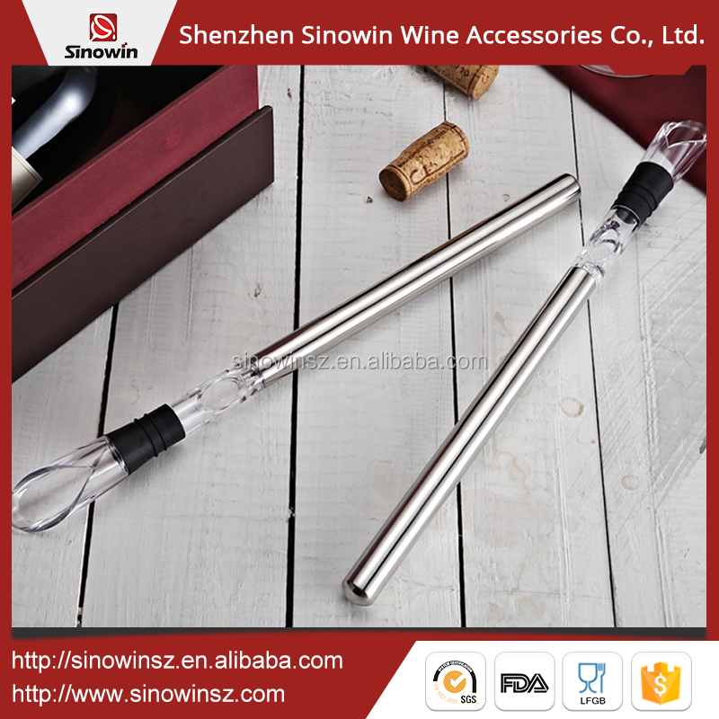 Stainless Steel Wine Chiller Cooler Iced Colding Stick Rod In Bottle Pourer Beer