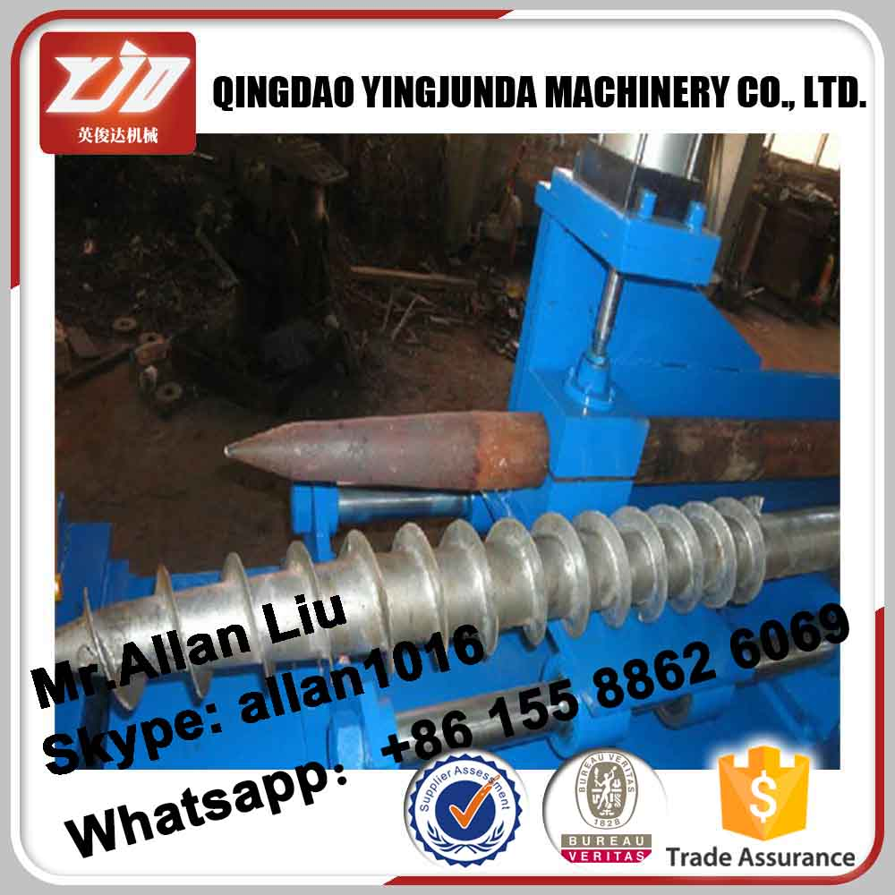 Slivery white 865mm helical screw piles,Hot Dip Galvanized Ground Screw Pile