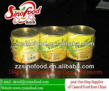 Canned Sweet Corn in brine Canned Vegetable with Metal Tins