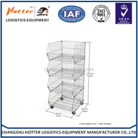 New design fashion modern wire mobile shelving