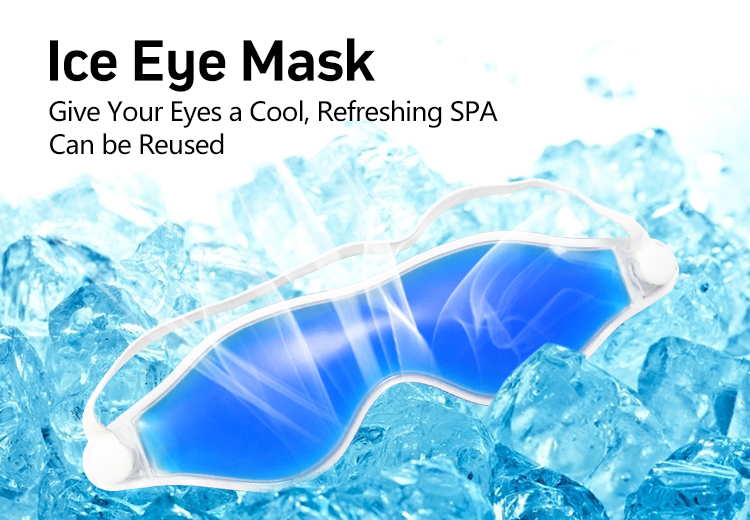 Custom printed eye mask or freezer eye mask for dry eye