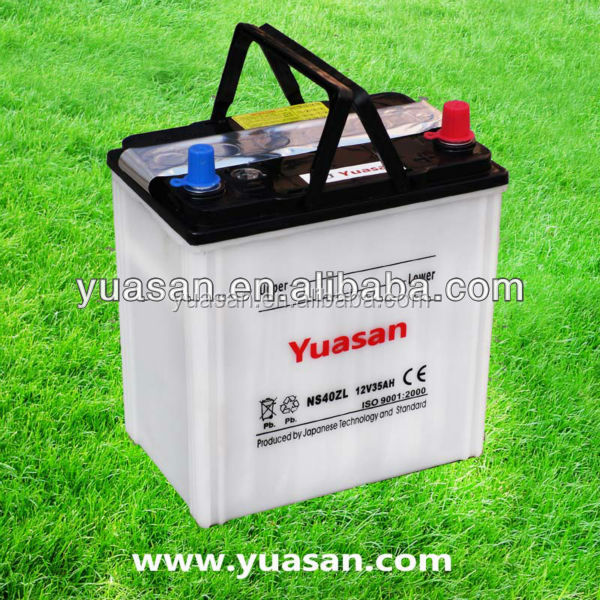 12V35AH Long Life Yuasan Brand Japan Standard Dry Charged 12V Car Battery 42B19L/NS40ZL