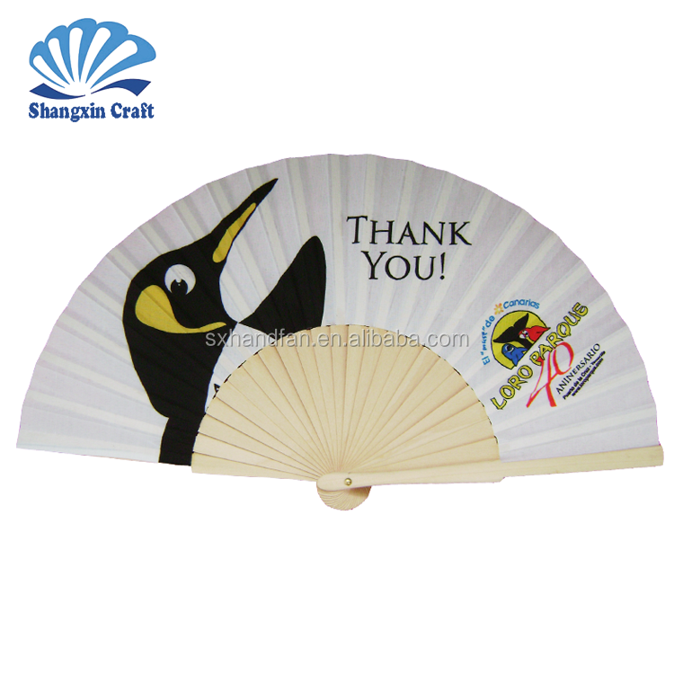 Trade Assurance promotional hand fan with wood handle personalized fans for wedding ODM