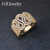 24K Gold Plated AA Zirconia 925 Italian Silver Ring