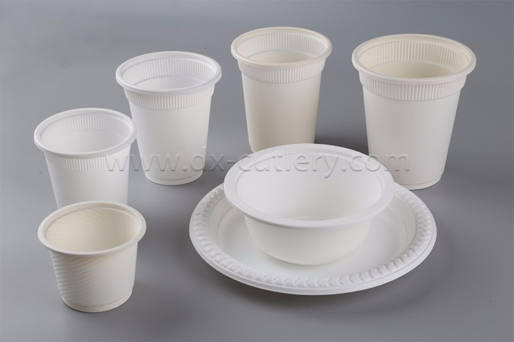 7 8 9 Inch Cornstarch Biodegradable Compostable Plates Disposable Plastic Dinner Plate