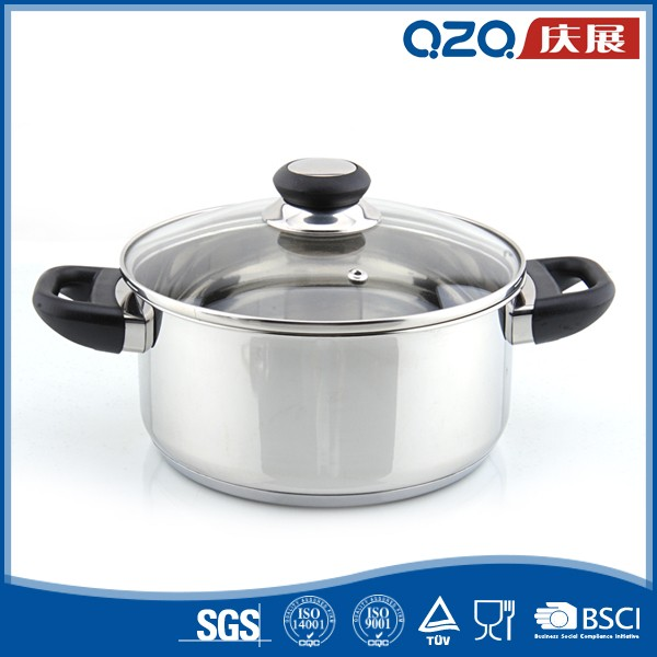 Superior material robust strong mirror polish wholesale stainless steel cookware