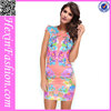 No moq elegant cheap print sexy ladies simple fashion dress