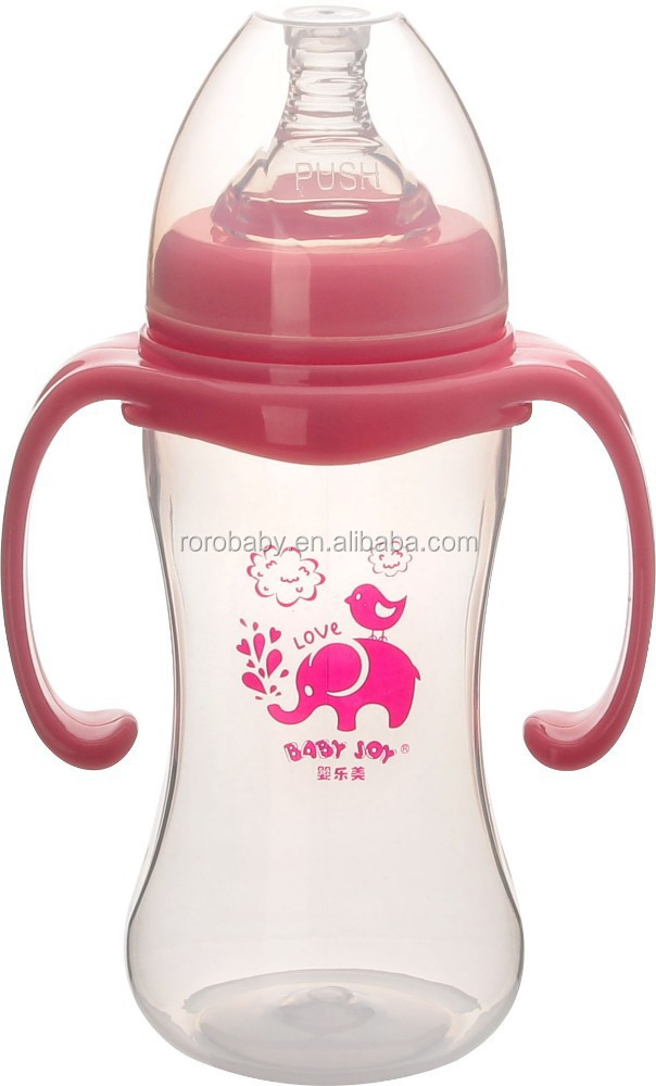 Baby products wholesale 9oz 270ml no BPA PP material children baby bottle with good quality