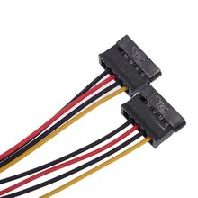SATA Power Splitter Y-Cable 4 Pin IDE/Molex Male to Dual 15 Pin SATA Female Power Adapter for HDD/SSD/Hard Drive