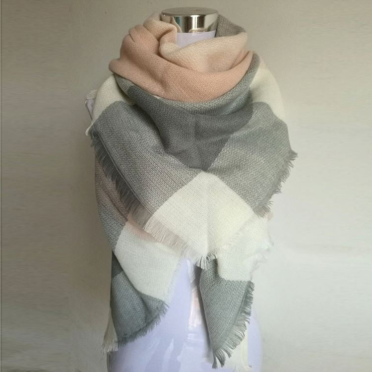 Most popular custom design lady's cashmere feel acrylic scarf for wholesale