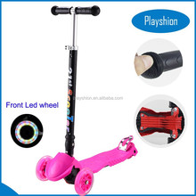 Kids toys folding kick scooter/ maxi mini scooter/4 (three)lighted wheels kick scooter