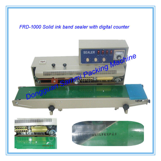 digital counter ink wheel code printer continuous sealing machine