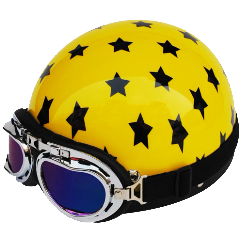 Novelty Motorcycle Half Helmet with Goggle