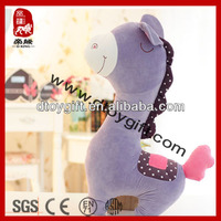 2014 soft cute lucky gifts purple stuffed plush horse toys