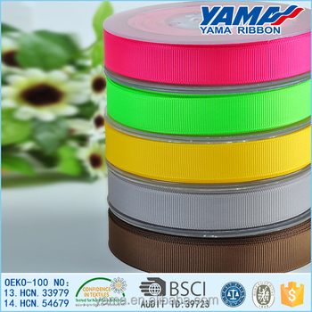 2016 Manufacturer Wholesale Solid colorful Grosgrain Ribbon