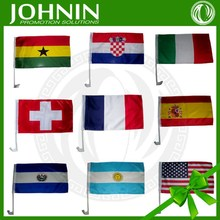 2018 world Cup Country promotional gift auto window Car Flag