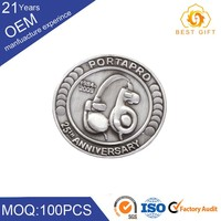 Commemorative challenge plated coin with difference logo for two side