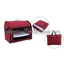 portable dog crate travel case pet carrier 600D polyester with PVC coating luxury pet products