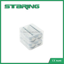 Factory price 26650 18650 18500 18350 battery case clear plastic battery case 26650 battery case