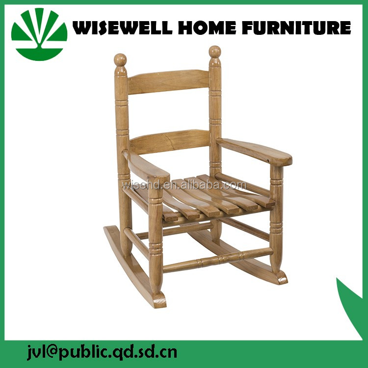 (W-G-C1089) wood kid's spindle rocking chair