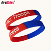 Custom logo fashion two color silicone bracelet