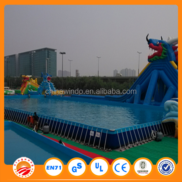 Wholesale price outdoor metal swimming frame pool for rent