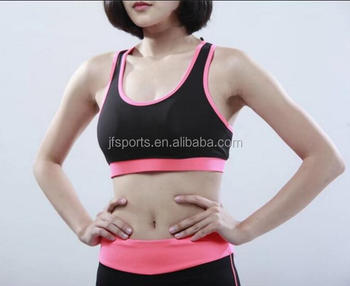 wholesale hign quality women slim fit fitness yoga jersey and running Bra underwear