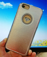 diamond leather case for iphone 6 with logo hole