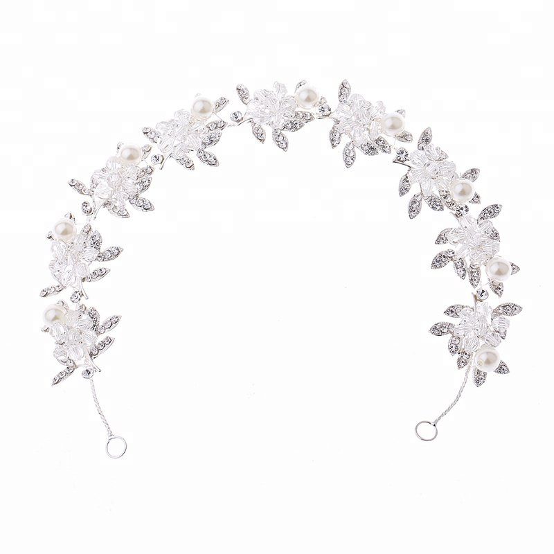 GENYA Handmade crystal beading alloy girl hairband Bridal <strong>hair</strong> <strong>accessories</strong>