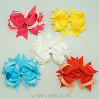 Hot sale chiffon bow hairgrips wholesale
