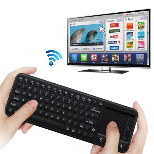 2017 New Arrival hot selling2.4G USB Wireless Keyboard Touchpad Air Fly Mouse for Mini PC Android TV Box
