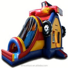 Inflatable Monster Truck Bounce House with Tunnel Slide