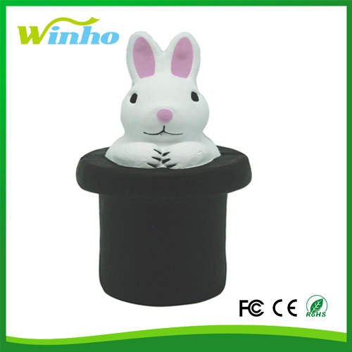 Winho factory Customed pu foam Magic Rabbit Stress Ball