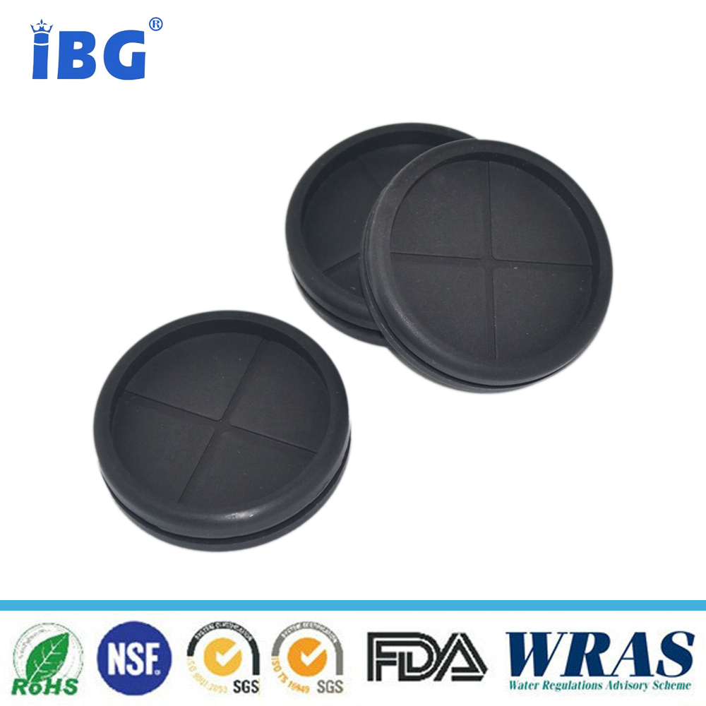 IBG TS 16949 Factory customized Molded high precision black neoprene auto rubber grommets
