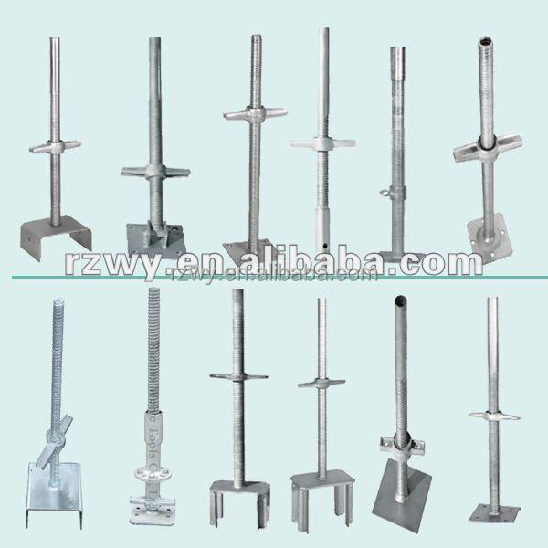 Adjustable U Head : Adjustable u head screw jack base for scaffolding system