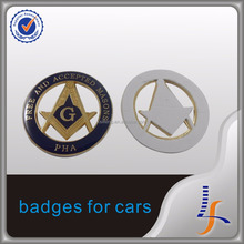 Discount Cheap metal Masonic car badges Freemason car emblems