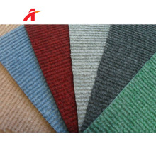 Cheap wall to wall exhibition ribbed carpet/nonwoven needle punch carpet